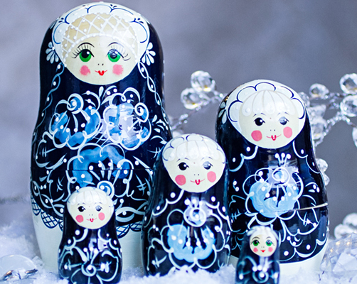 5-Nesting Cute Wooden Nesting Dolls Matryoshka Russian Doll Christmas Gift ED