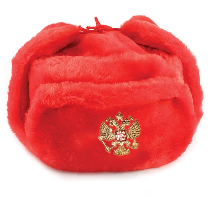 Red Ushanka Hat With Ear Flaps Product Sku Set 109410