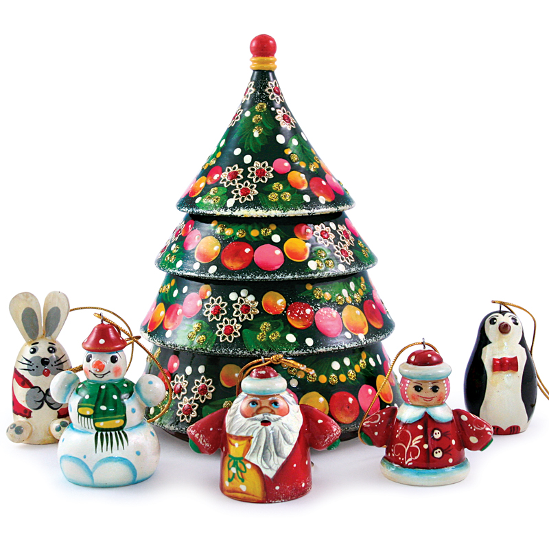 nesting doll w christmas tree ornament set product sku s 110614