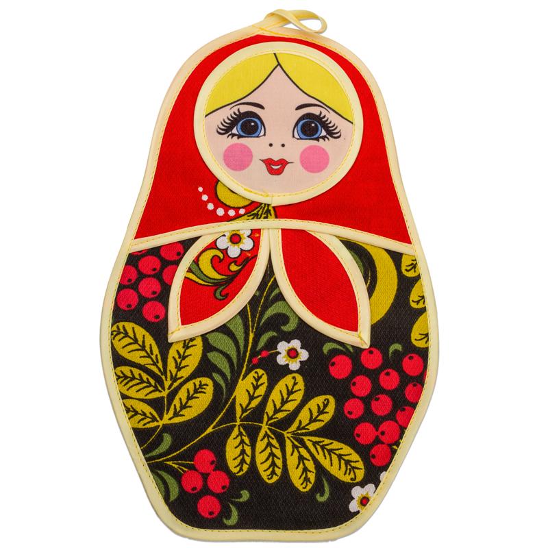 Матрёшка с хохломской росписью