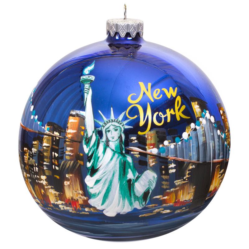 New York at Night Ball Christmas Ornament | Product sku S ...