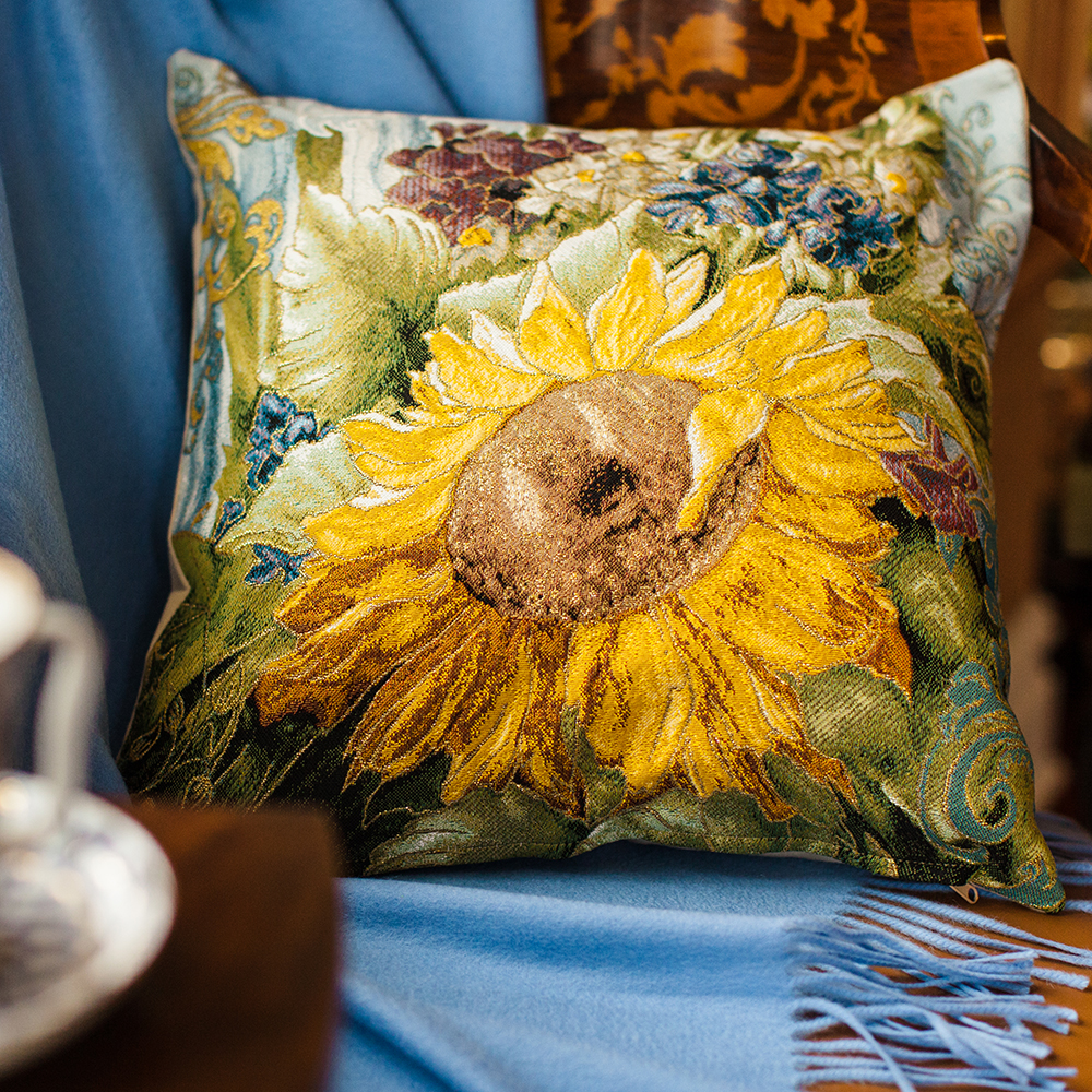 Decorative Tapestry Throw Pillows : Sunflower Decorative Tapestry Throw Pillow Product sku J-144464