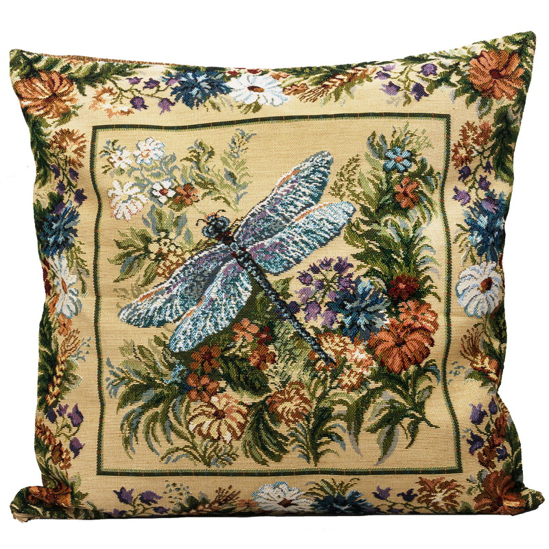 Decorative Tapestry Throw Pillows : Dragonfly Decorative Tapestry Throw Pillow Product sku J-126475