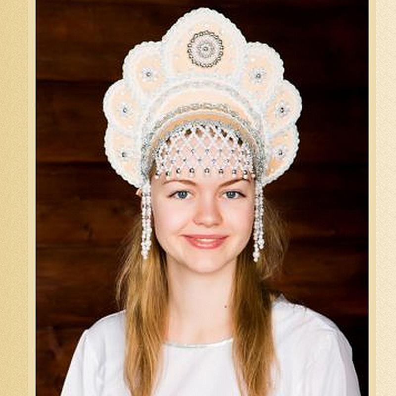 Elena Kokoshnik Headdress Gold Product Sku Z 128387