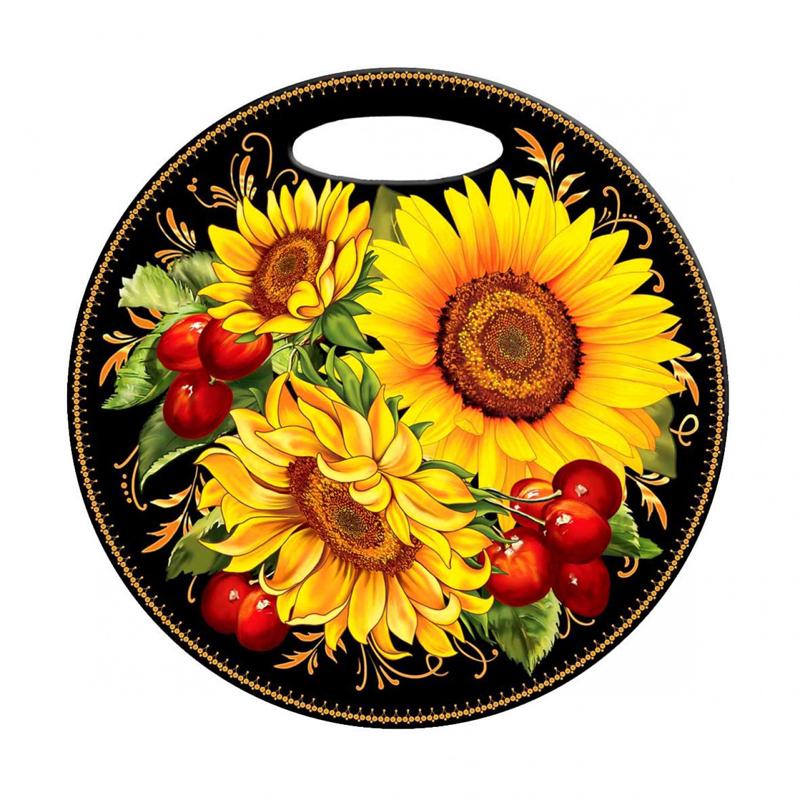 Decorative Product Board : Sunflower decorative cutting board round product sku j