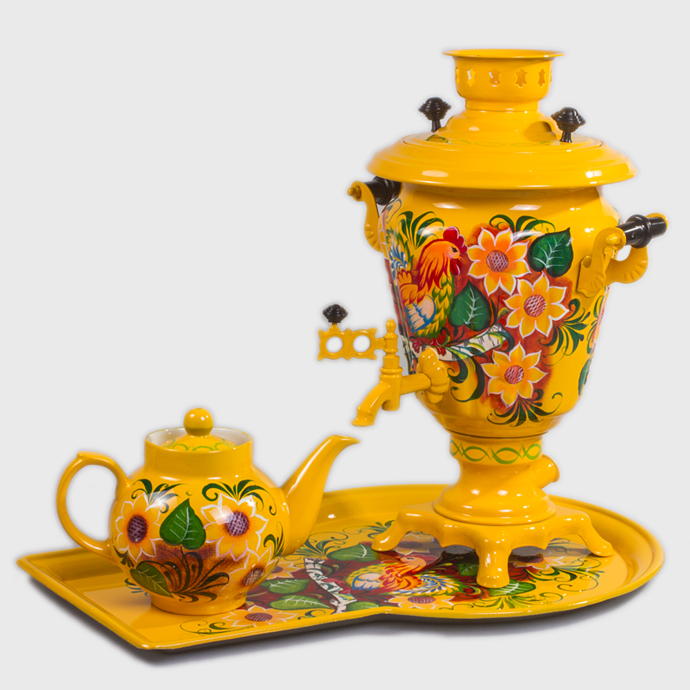 Rustic Electric Samovar Set With Tray Amp Teapot Product