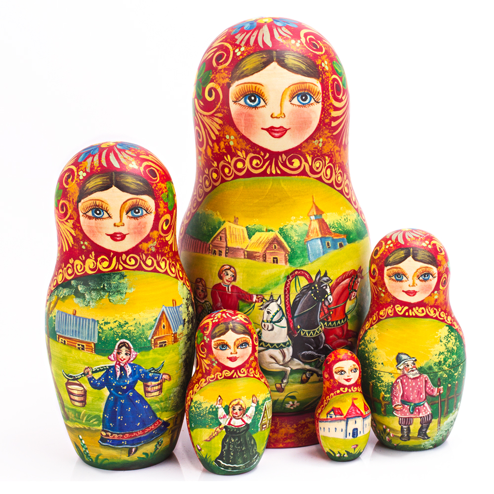 matryoshka dolls I visited sergviev posad, home of the beautiful monastery i wanted to buy a matryoshka here since it was known for them and also wanted one with many dolls.