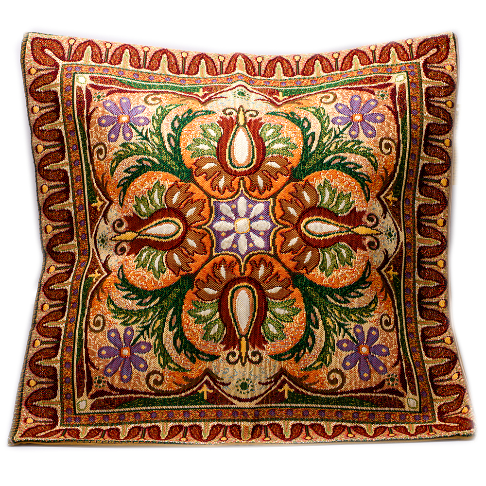 ornamental decorative tapestry throw pillow