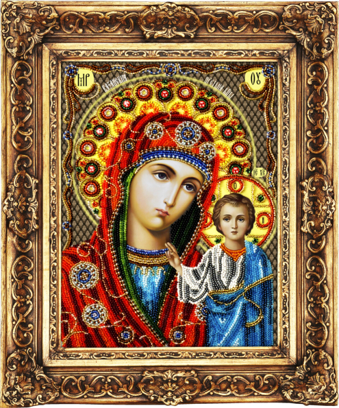 Our lady of kazan set for bead embroidery product sku j