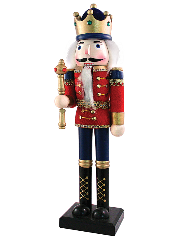 nutcracker in a velvet uniform collectible wooden toy