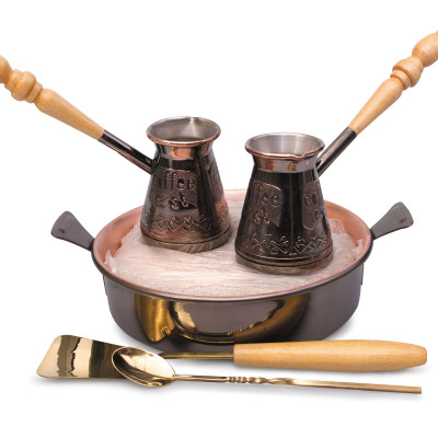 Tete-a-Tete 2 Cezve w// Hearth /& Sand Turkish Coffee Set
