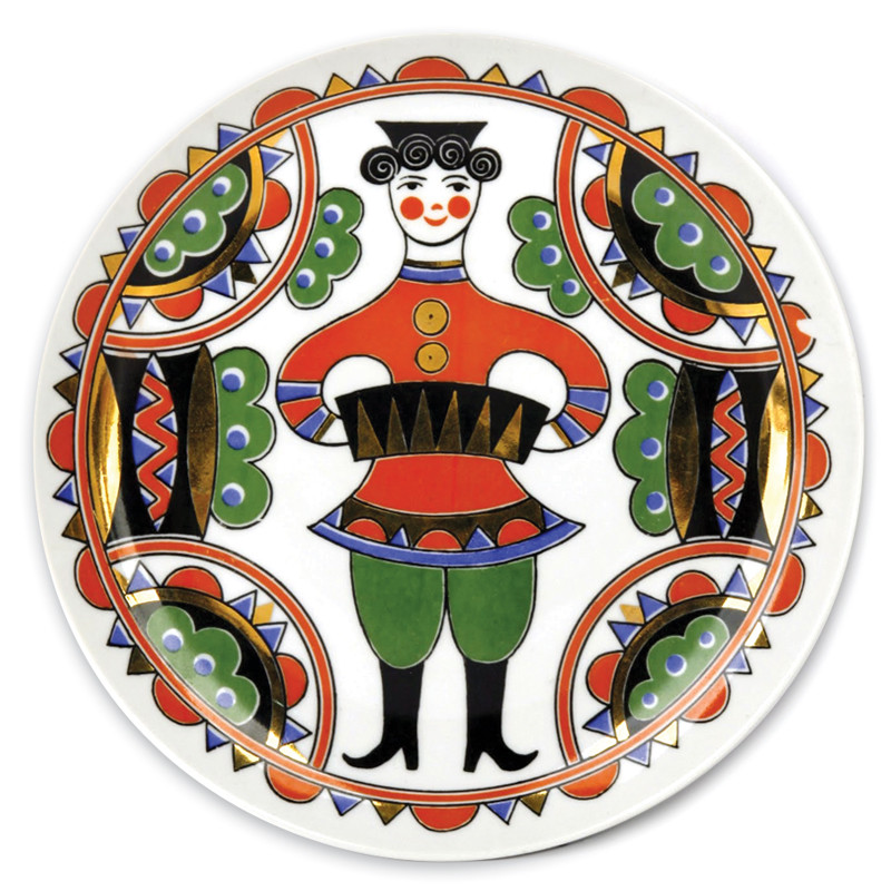 Accordion Player Decorative Plate