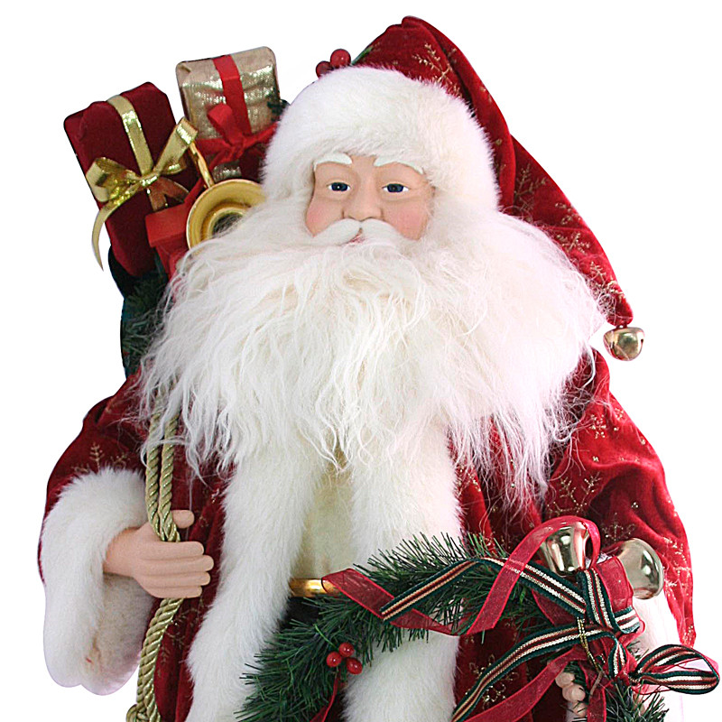 Santa claus with a garland christmas new year product