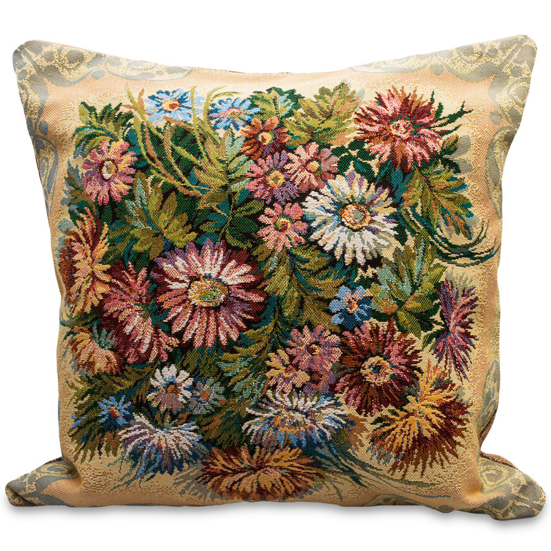 Chrysanthemums Decorative Tapestry Throw Pillow Product