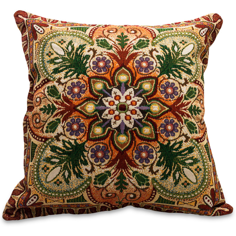 Decorative Tapestry Throw Pillows : Intricate Ornaments Decorative Tapestry Throw Pillow Product sku S-114764