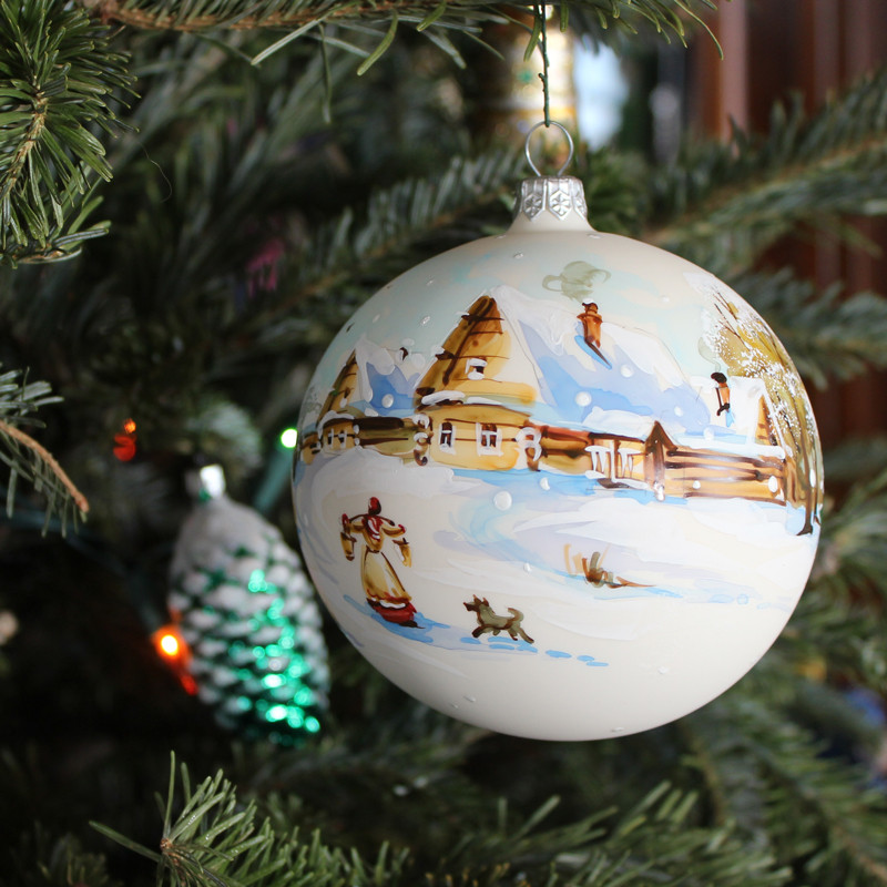 Getting water ball christmas ornament signed product