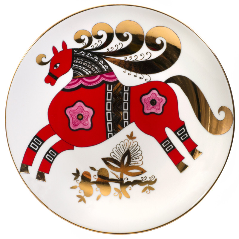 Red Steed Decorative Plate  sc 1 st  FromRussia.com & Red Steed Decorative Plate | Product sku J-129029