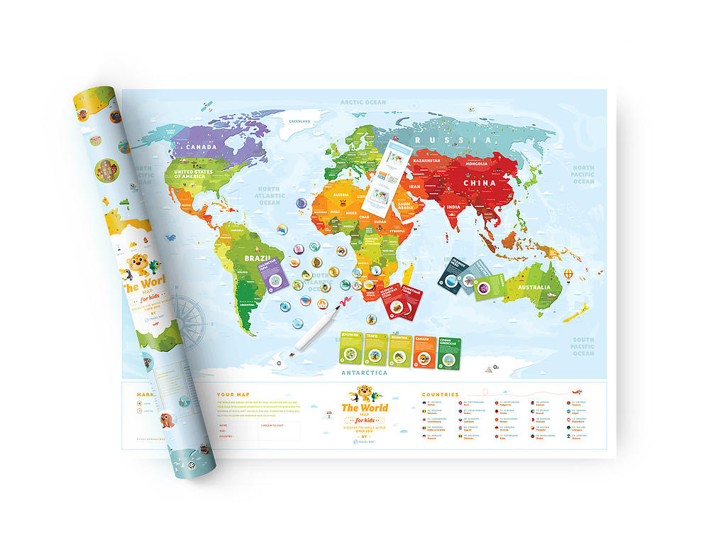 The World Map For Kids