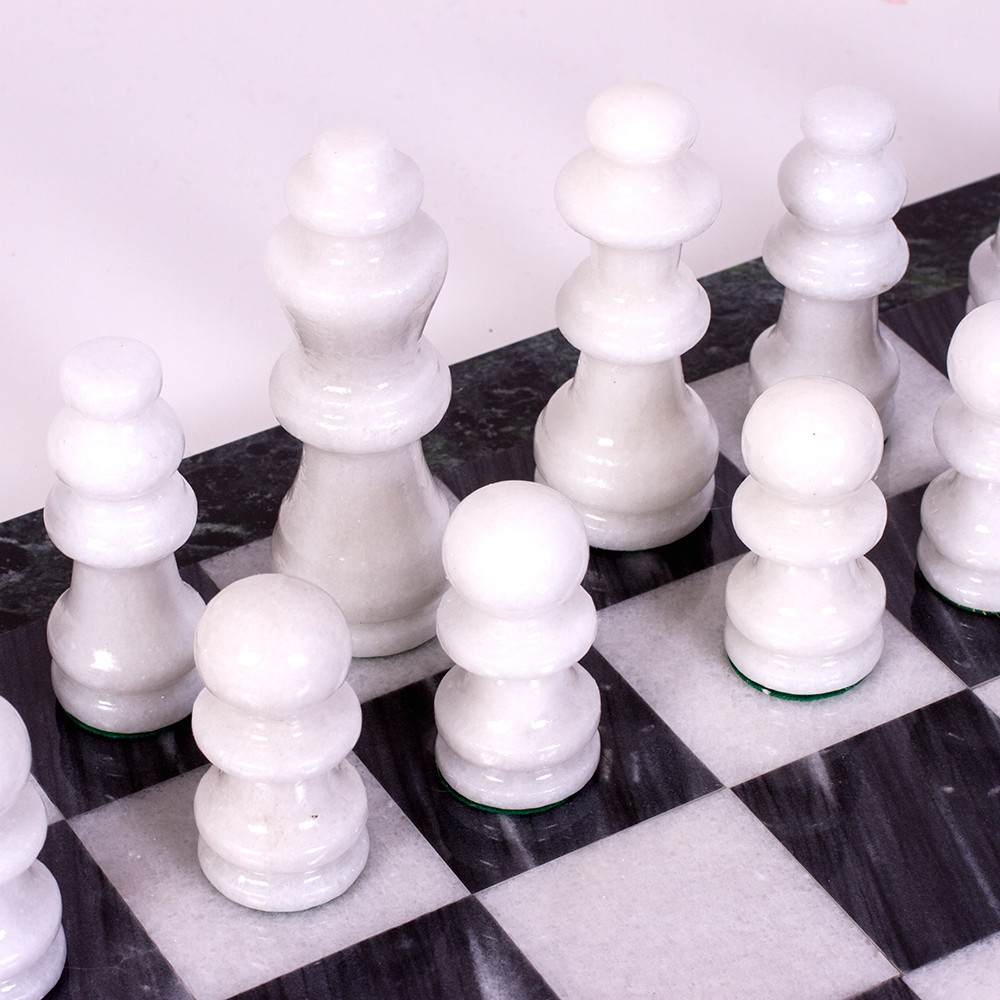 Black And White Marble Chess Set Product Sku J 149278