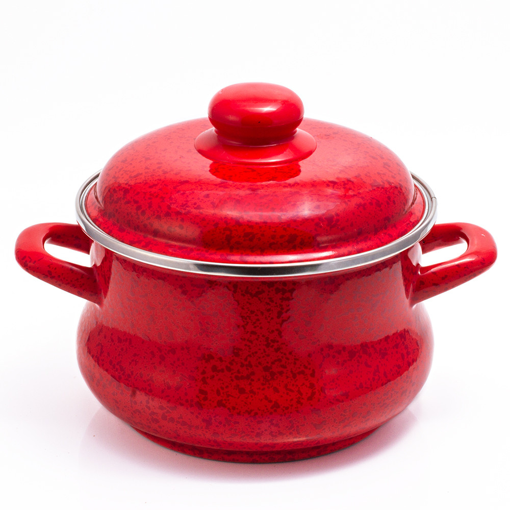 Ruby (Red) Enamel cookware Pot | Product sku SET-149641 ...