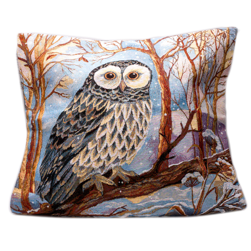 wooded river wd80001 n barn owl decorative pillow the mine o