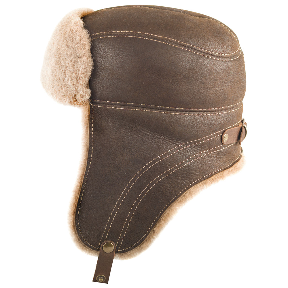 96ad277f3d5e5 Sheepskin Ushanka Hat (light brown)