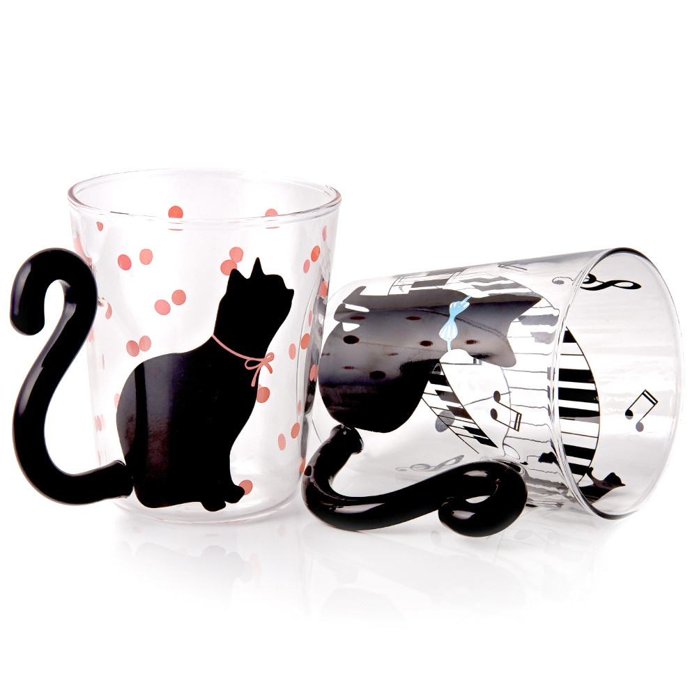 Musical Cat Glass Mug Product Sku J 158545