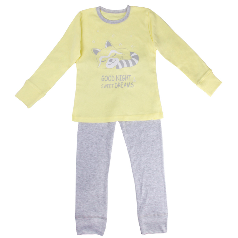 9465ffafec462 Children's Long Sleeve T-Shirt & Pants Pajamas Set with Cat Print