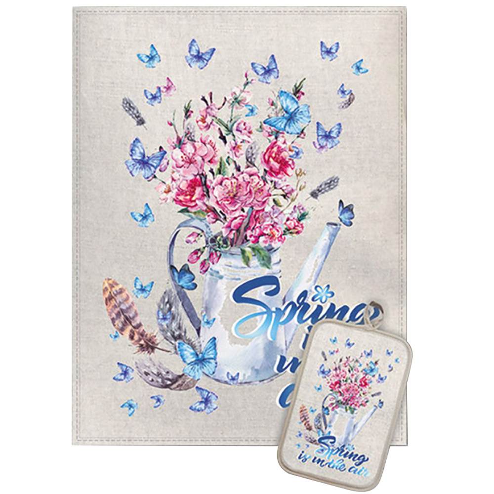 Spring bouquet towel potholder set for kitchen spring bouquet towel potholder set for kitchen izmirmasajfo