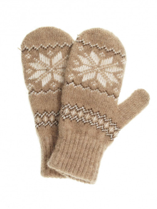 new release promo codes watch Star Female Mittens in Light Brown with White Picture 18 size ...