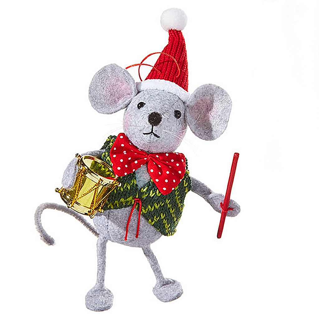 Mouse with a Drum Christmas Ornament | Product sku S-190619