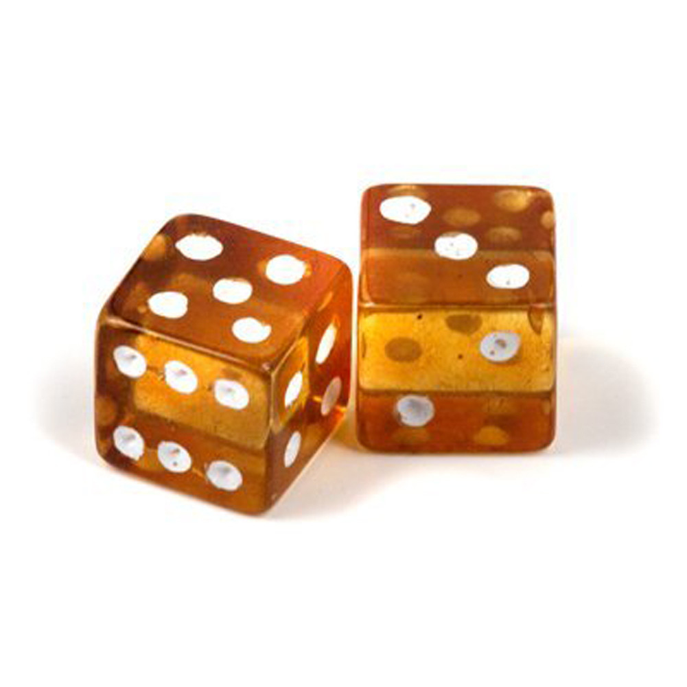 Amber Lucky Dice