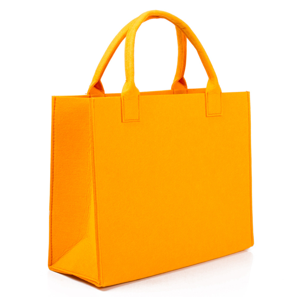Felt Tote Bag In Orange