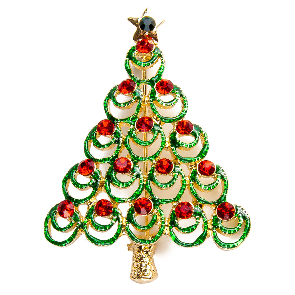 jj jewelry s vintage store christmas lady tree rhinestone products the brooch pin