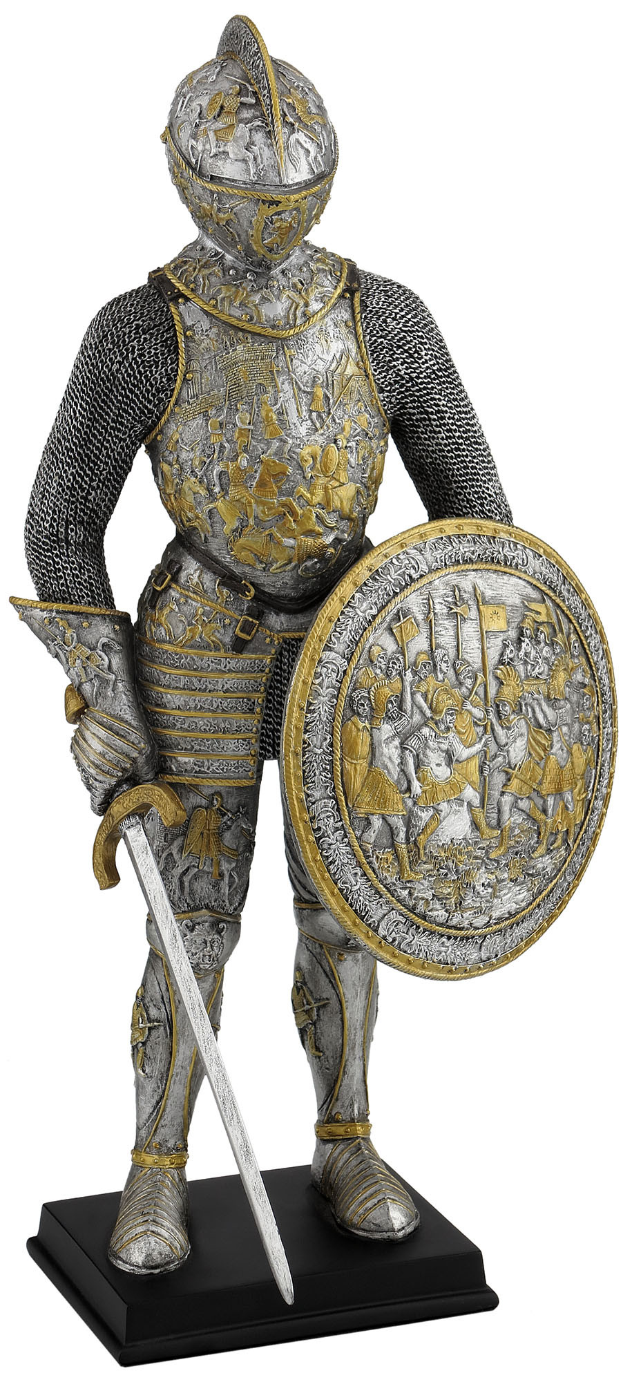 medieval armor parade armor w sword and shield statue product sku