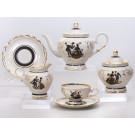 Silhouettes 15 pc. Tea Set for 6 Persons