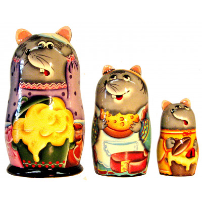 5pieces Delicate Wooden Eggs Russian Nesting Doll Matryoshka Home Decoration