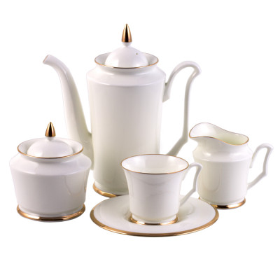 Golden Ribbon 15 Piece Coffee Set For 6 Persons