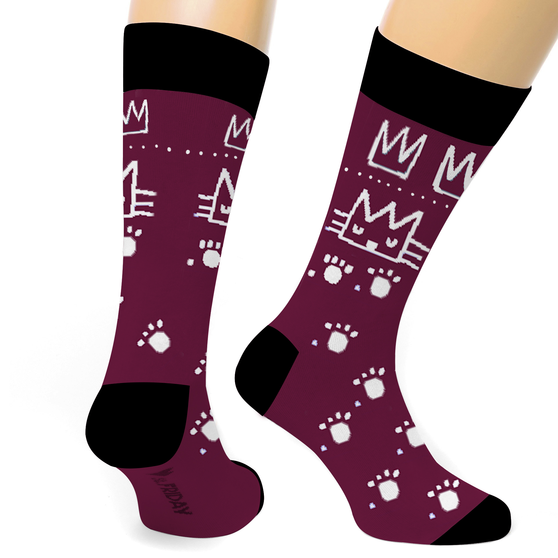 Cat With A Crown Designer Socks