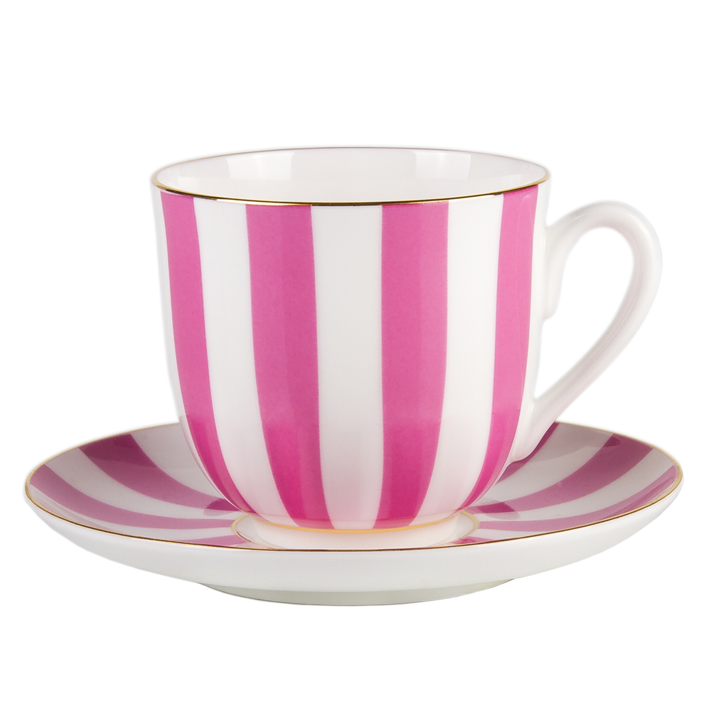 yes and no coffee cup w saucer pink product sku j 160427. Black Bedroom Furniture Sets. Home Design Ideas