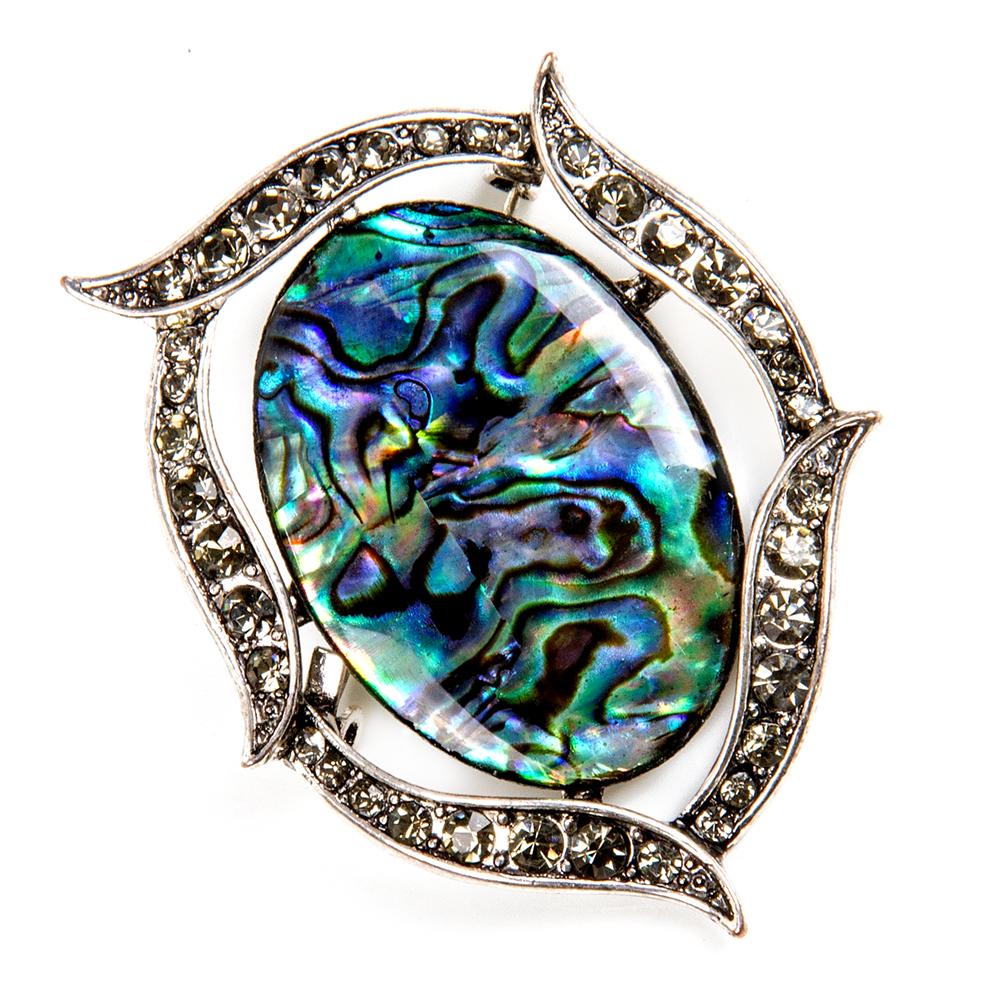 g1036.1 Abalone shell oval pendant focal bead